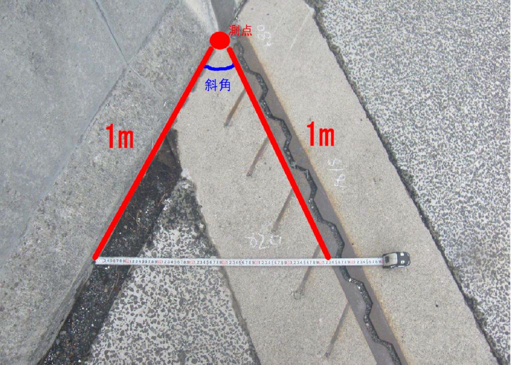 斜角の測り方